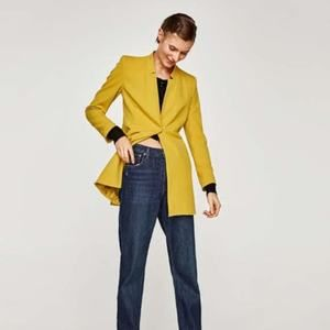 Zara Inverted Lapel Frock Coat Jacket Small